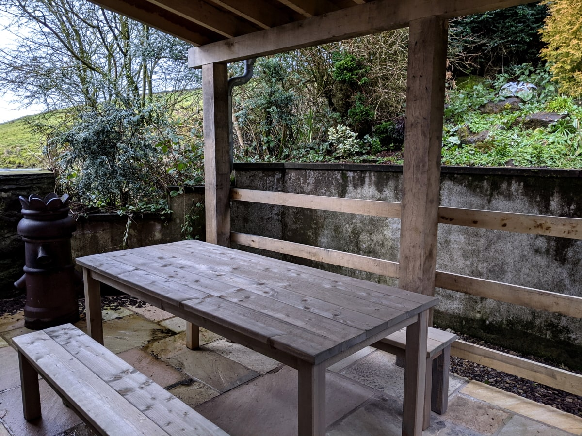 12 Newchurch luxury holiday cottage - Patio